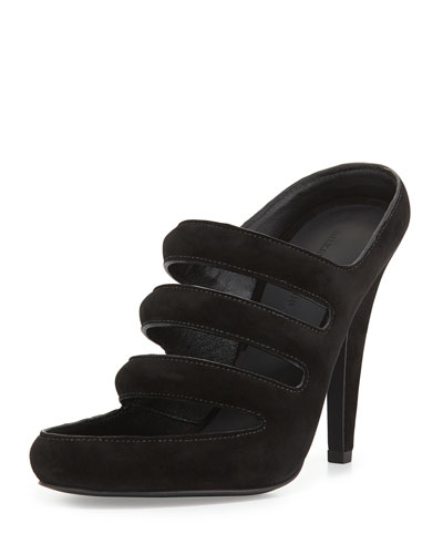 Chelsie Suede Mule Sandal, Black