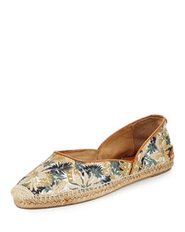 Georgie Printed Cotton Espadrille, Botanical