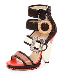 Kaya Ladder-Strap Wedge Sandal
