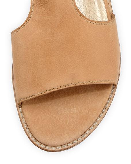 Backview Leather Gladiator Sandal, Pecan