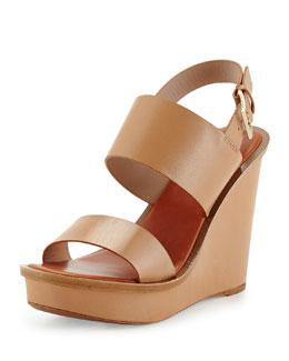 Lexington Leather Wedge Sandal