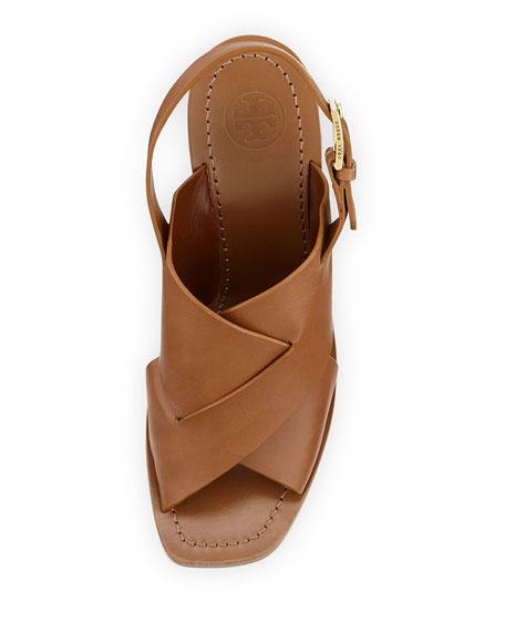 5cbf61f62dff Tory Burch Bleecker Slingback Leather Sandal