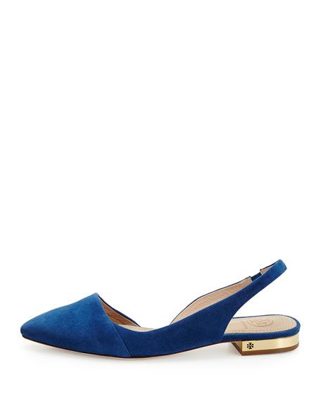 b6c6eabb885eb Tory Burch Classic Point-Toe Slingback Flat