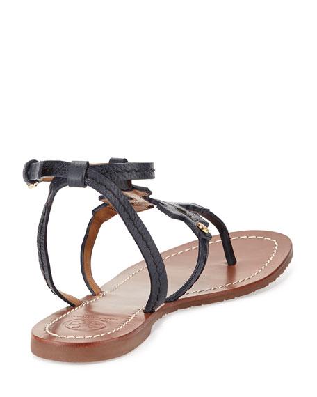 711c16b8c09 Tory burch phoebe leather flat sandal tory navy jpg 456x570 Tory burch  phoebe tote