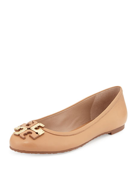 Lowell Leather Logo Ballerina Flat