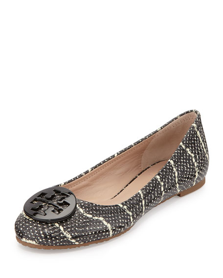 best place cheap price Tory Burch Embossed Logo Flats outlet discount authentic very cheap online cheap sale eastbay for sale online P2omgL9v