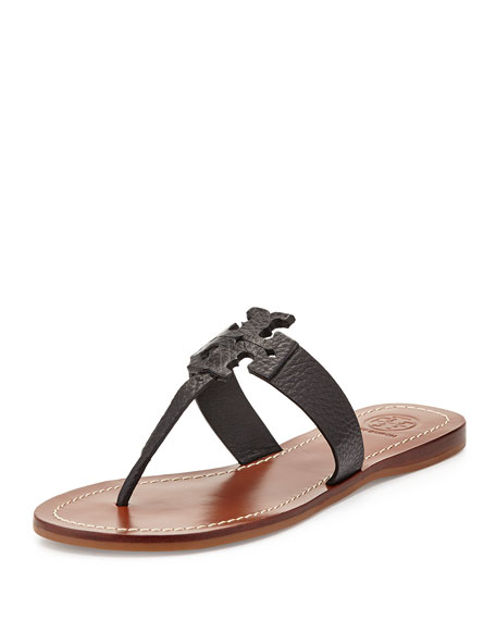 1ba9f7396b1ca4 Tory Burch Moore Leather Thong Sandal