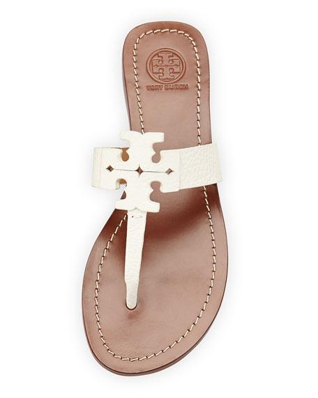 6ba0163aaf9 Tory Burch Moore Leather Thong Sandal