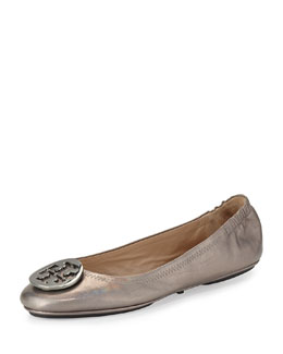 Minnie Travel Ballet Flat, Gunmetal