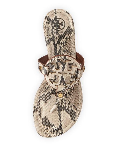 77aeb7ea7 Tory Burch Miller Snake-Print Logo Thong Sandal