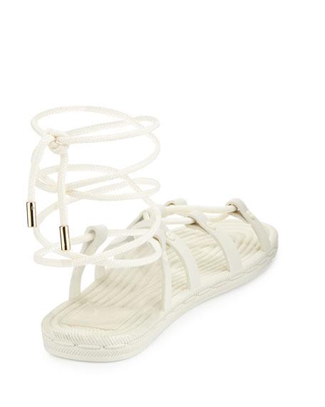 c0698803110a Tory Burch Rope Lace-Up Rubber Sandal