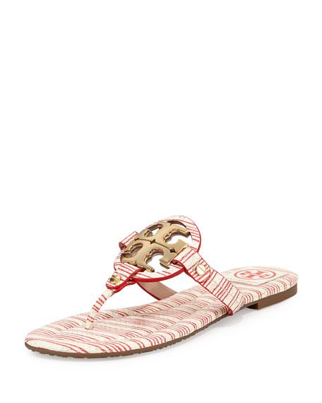 5d5fa8762c0 Tory Burch Miller Striped Logo Thong Sandal