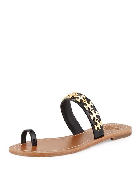 57f48542962 Tory Burch Val Patent Flat Sandal