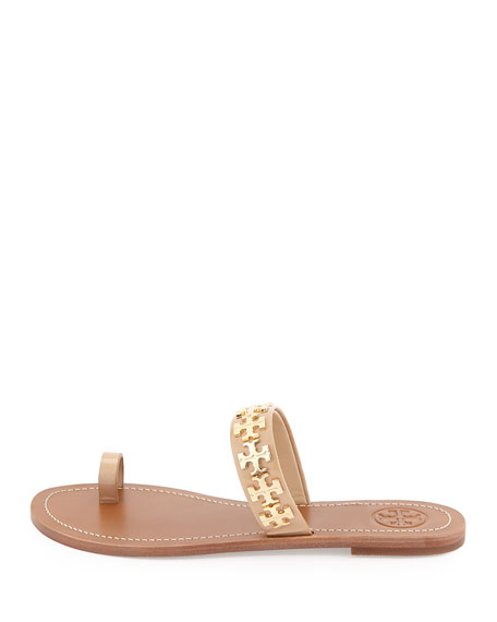 Val Patent Flat Sandal, Camelia Pink
