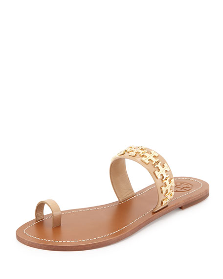 Val Patent Flat Sandal, Camelia Pink