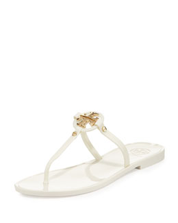 Mini Miller Jelly Thong Sandal, Ivory