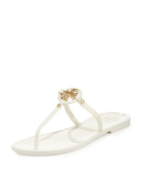 Tory Burch Mini Miller Jelly Thong Sandal Ivory