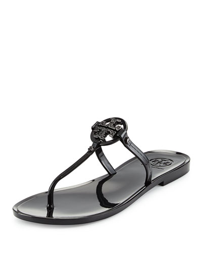 Mini Miller Flat Thong Sandal, Black