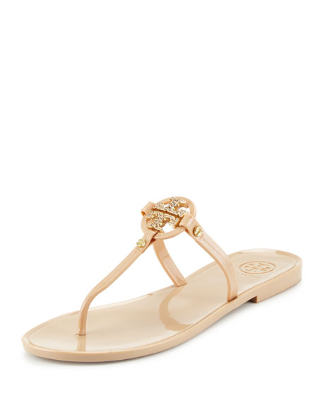 f0fd466fbc0c3b closeout tory burch flat thong sandals mini miller jelly 0ee8b 520d7
