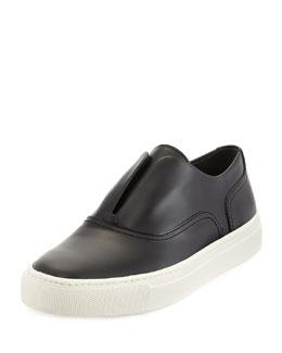 Nelson Leather Slip-On Sneaker, Black