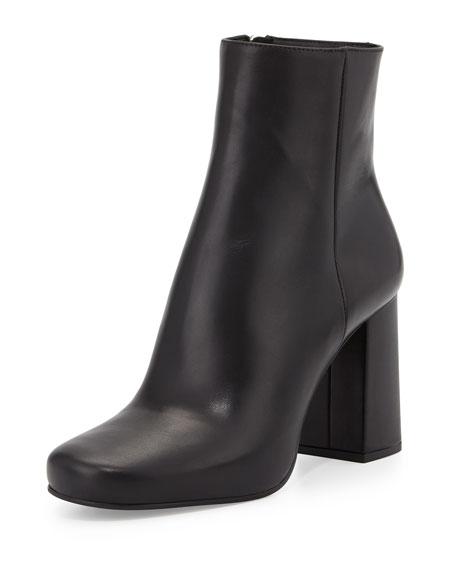 7d701d412 Prada Vitello Leather Ankle Boot, Black (Nero)