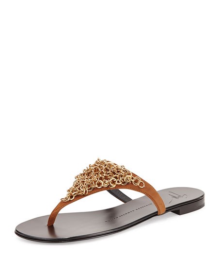 Shoes Sandals Thongs Sandals With Link Chain TYA55002482