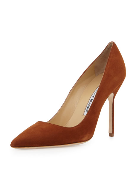 buy cheap shop for deals for sale Manolo Blahnik Suede Crossover Pumps BXPRSNuF