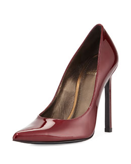 Queen Coated Leather Pump, Fire