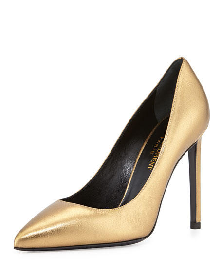latest outlet best store to get Saint Laurent Metallic Leather Pumps cheap with mastercard outlet 2015 HcSaJuXKUB