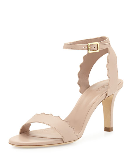 3d02e1f909bac Chloe Lauren Scalloped Leather Sandal