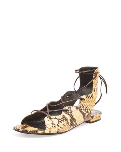 Python-Print Gladiator Sandal, Soleado