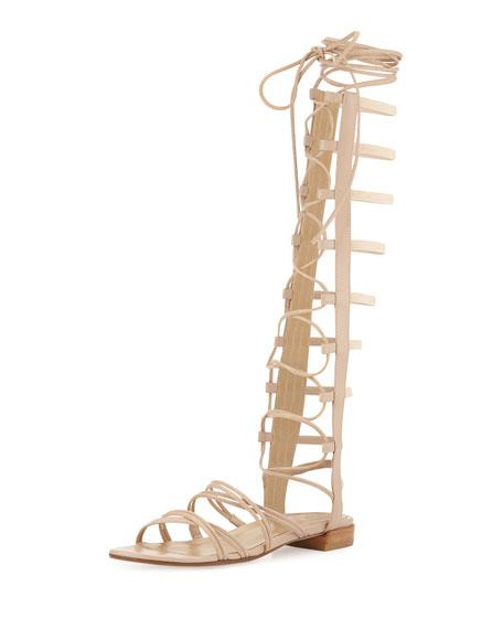 Stuart Weitzman Sparta Lace-Up Gladiator Sandal
