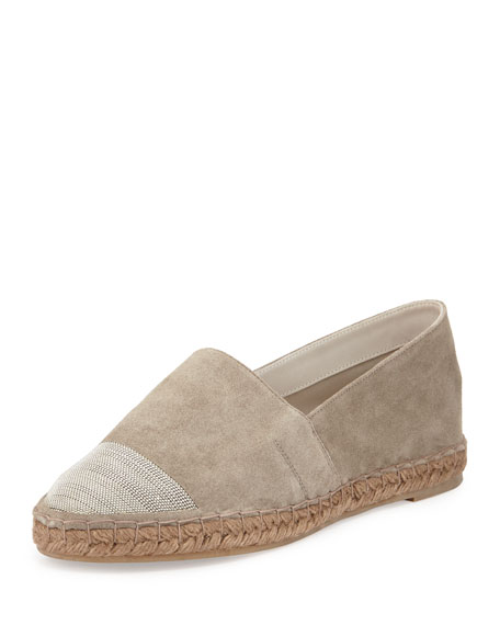 Brunello Cucinelli Monili Cap-Toe Espadrille Flats clearance clearance outlet locations cheap online buy cheap nicekicks cheap sale get to buy outlet best eMwRK