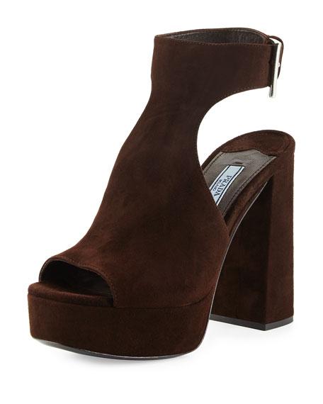 prada blue suede sandal sale