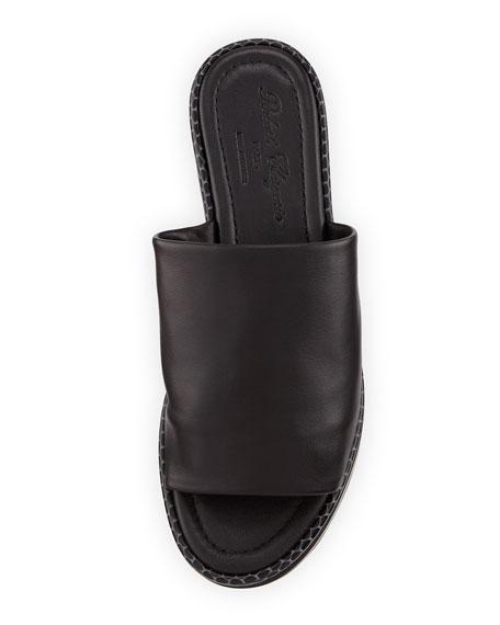 Flore Leather Platform Sandal, Black