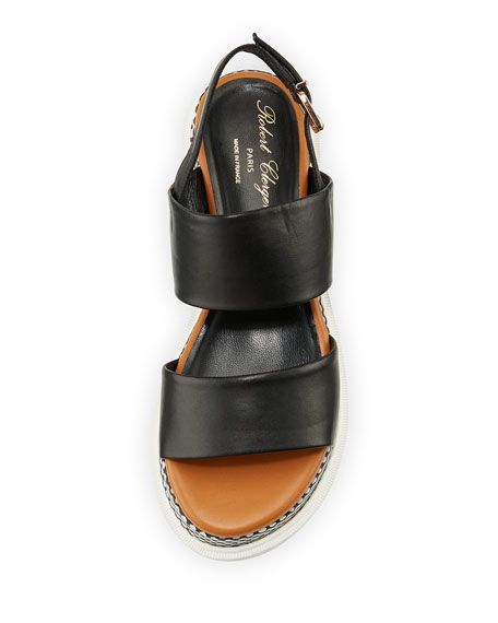 Camas Two-Band Slingback Sandal, Black