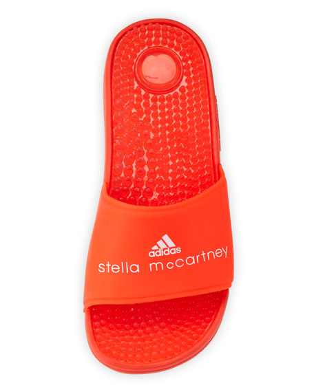 Recovery Molded Slide Sandal, Coral Red