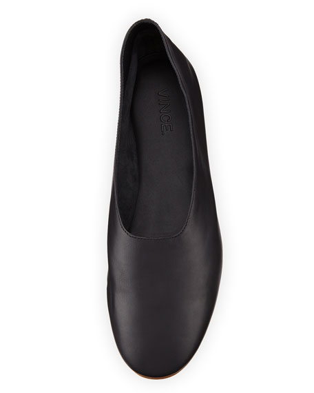 b81c538fb Vince Maxwell Leather Flat, Black