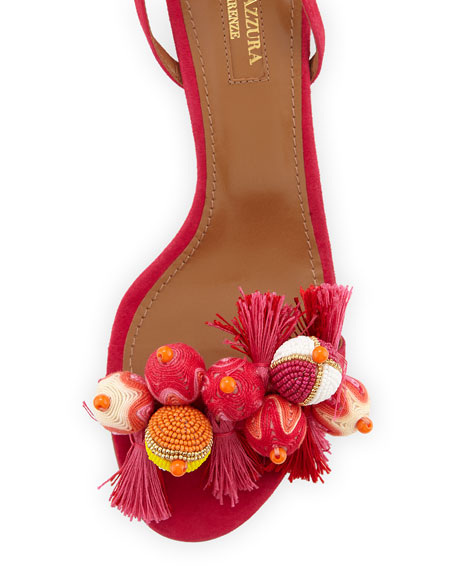Tropicana Beaded 50mm Sandal, Pink