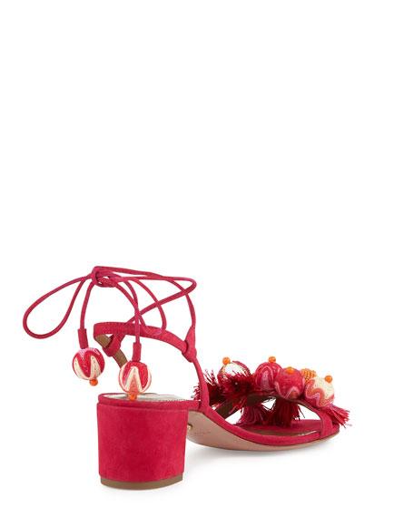 Tropicana Beaded 50mm Sandal, Pink