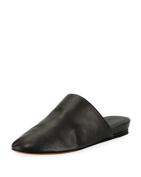 Oren 2 Leather Mule Flat, Black