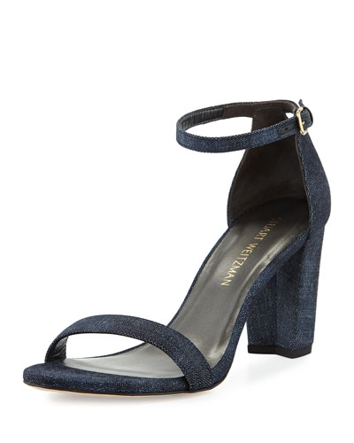 Nearlynude Denim City Sandals  Navy