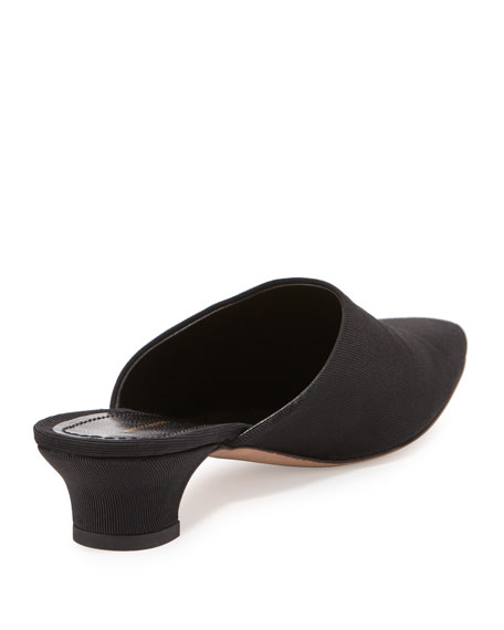 Elegant Suede 45mm Mule Pump, Black