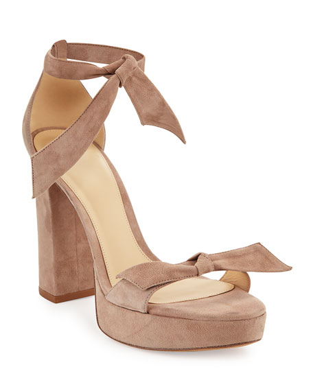 Mabeleh Suede 110mm Platform Sandals, Neutral