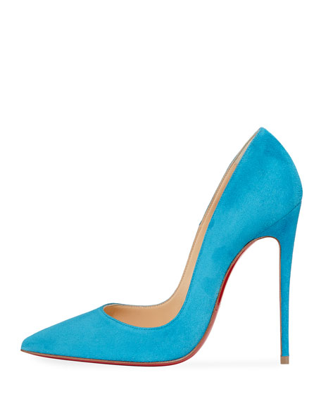 So Kate Suede Red Sole Pump