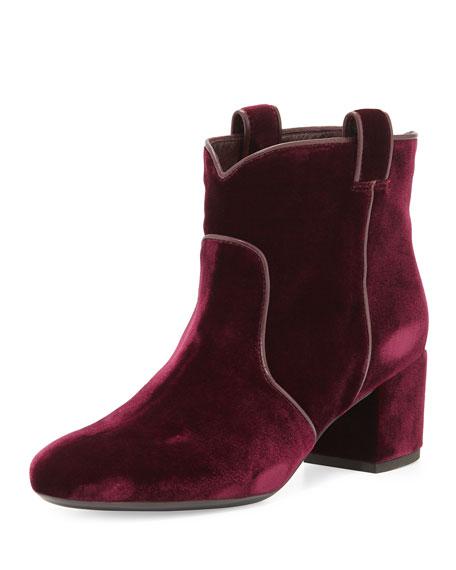 Laurence Dacade Belen Velvet Western Ankle Boot