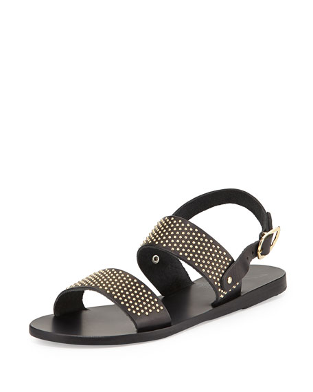 Ancient Greek Sandals Dinami Studded Two-Band Sandal