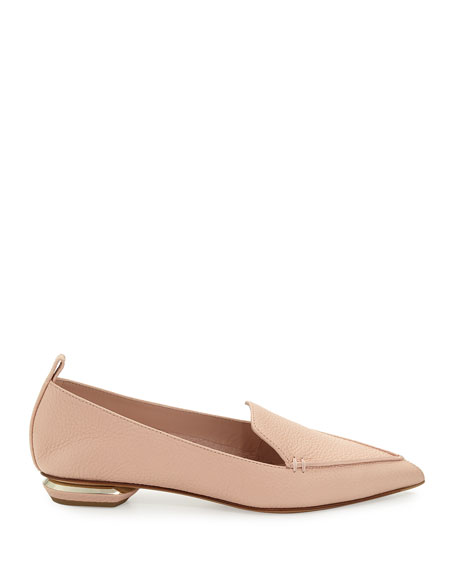 Beya Leather Point-Toe Loafer