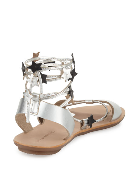 Starla Flat Leather Gladiator Sandal