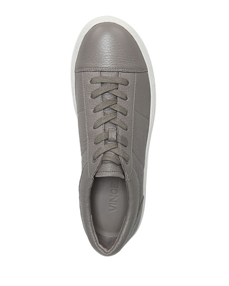 Afton Leather Low-Top Sneaker, Gray